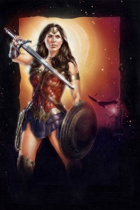 Gal Gadot Wonder Woman illustration